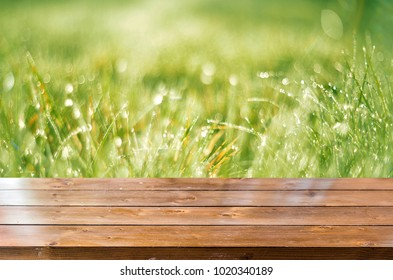 Spring background table
