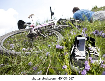 Spring. A bike. Recreation.