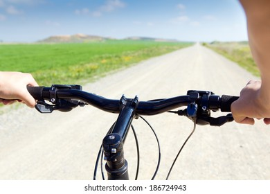 Spring Biking on the field