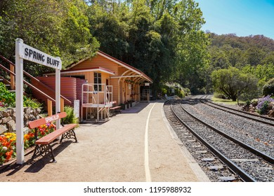 Spring Bluff, Toowoomba, Queensland/ Australia - October 2 2018: Spring Bluff Railway Station