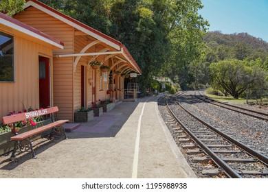 Spring Bluff, Toowoomba, Queensland/ Australia - October 2 2018: Spring Bluff Railway Station