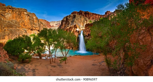 Spring brake in peaceful Havasu Indian Reservation at Grand Canyon, Arizona