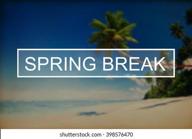 Spring Break Beach Party Teenager Adolescence Leisure Concept