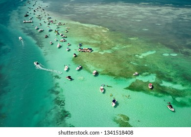 Spring Break boat party on the sandbar in the Florida Keys - Shutterstock ID 1341518408