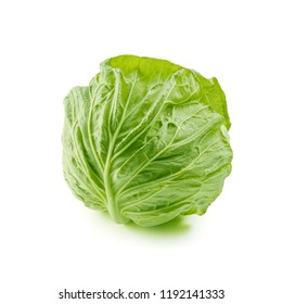 Spring cabbage isolated on white background