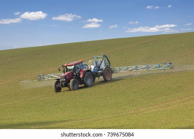 Spring chemical treatment of cereals