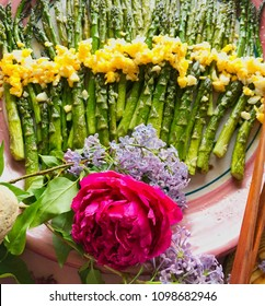 spring, colorful food, farm to table, lunch, asparagus, green, yellow, food, salad, fresh, inviting, delicious, juicy, farm, vegetables, bright