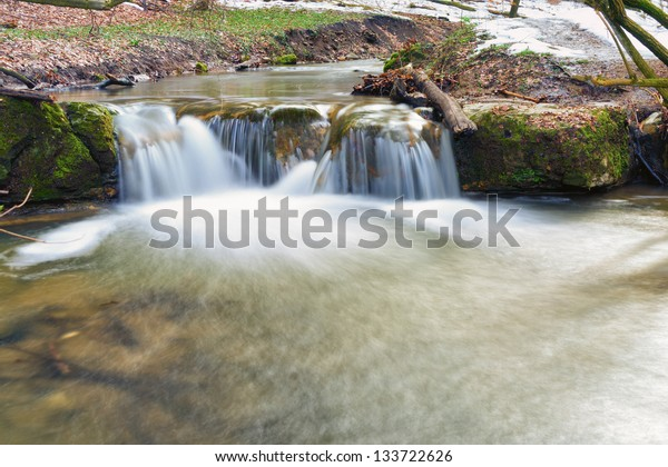 Spring is coming 1/This mini waterfall was photographed in a place named Obanya. It is a nature reserve in Hungary, the county of Baranya, Mecsek mountain.