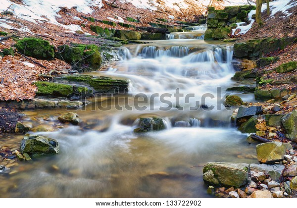 Spring is coming 2/This mini waterfall was photographed in a place named Obanya. It is a nature reserve in Hungary, the county of Baranya, Mecsek mountain.