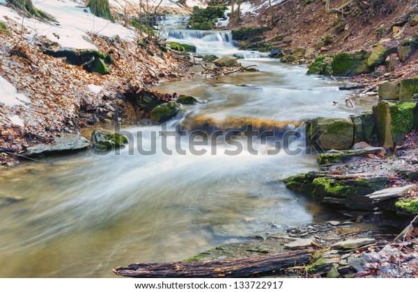 Spring is coming 3/This mini waterfall was photographed in a place named Obanya. It is a nature reserve in Hungary, the county of Baranya, Mecsek mountain.