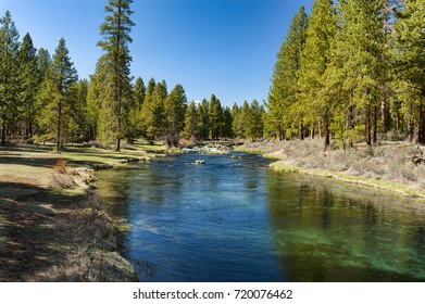 Spring Creek flows through Collier Memorial Park near Chiloquin, Oregon in the high desert country of the Klamath Basin.