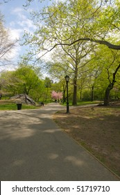 Spring day in Central Park in Manhattan