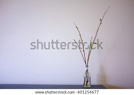 Spring Decoration Branches Vase Stock Photo Edit Now 601254677