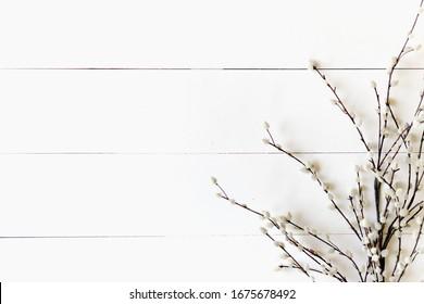 Spring Florals on Shiplap Background