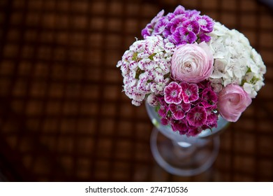 Spring Flowers in Vase for Home Decoration