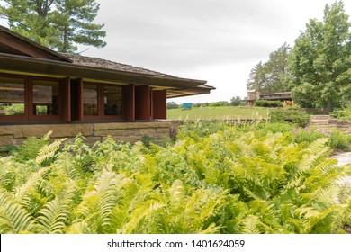 Spring Green, Wisconsin-7/10/2018:Taliesin East, Architect Frank Lloyd Wright, built in 1925.