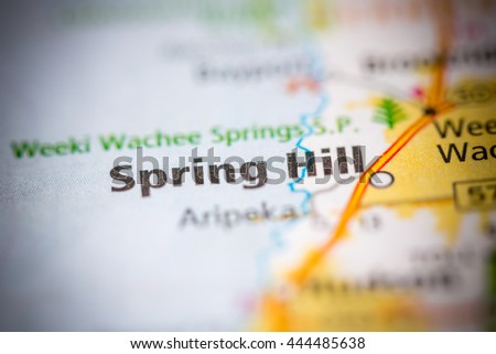 Map Of Spring Hill Florida.Spring Hill Florida Usa Stock Photo Edit Now 444485638 Shutterstock