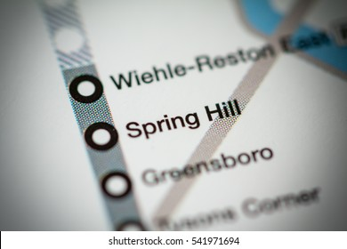 Spring Hill Station. Washington DC Metro map.