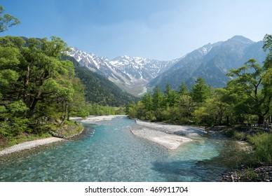 Spring Kamikochi,nagano,tourism of japan