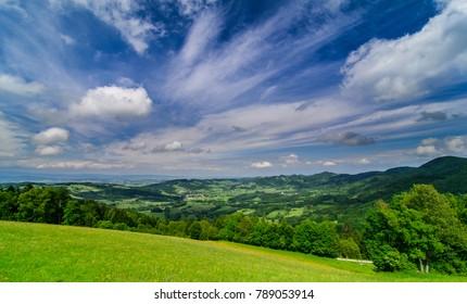 spring landscape in downer austria