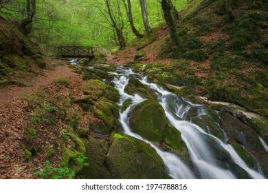 Spring landscape near the town of Teteven, Stara planina Mountains, Bulgaria