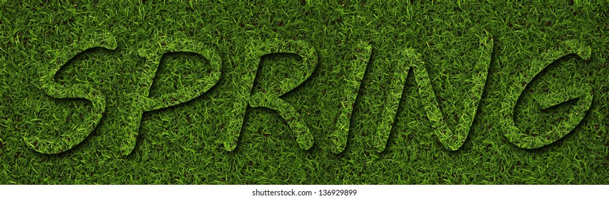 spring made from grass