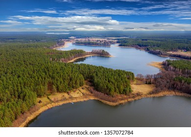 Spring in Masuria from a bird's eye view, Poland