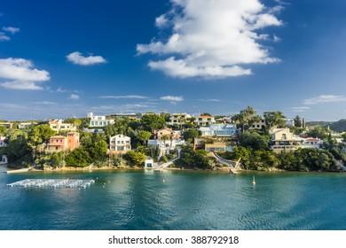 spring menorca coast  in balearic islands