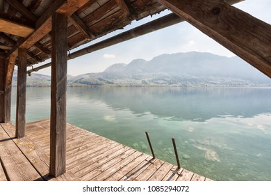 Spring mood at the Attersee in Austria