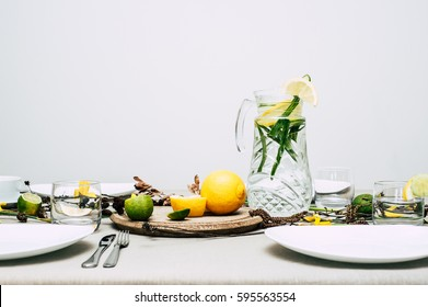 spring mood decorated table