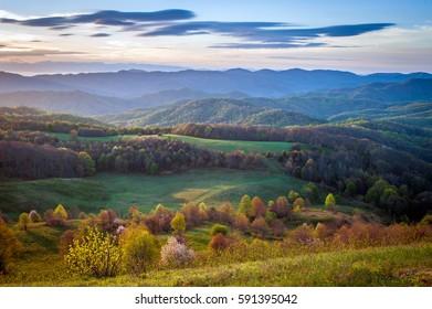 Spring Morning Max Patch Appalachian Trail North Carolina