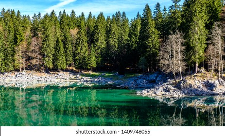 Spring morning at the superior lake of Fusine, Friuli Venezia-Giulia, Italy