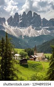 Spring mountains, panorama - snow-capped peaks of the Italian Alps. Dolomites, Alps, Italy, Trentino Alto Adige.