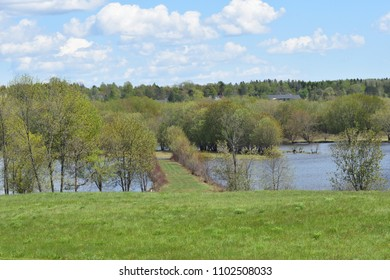 Spring on the River at Lower Norton New Brunswick Canada