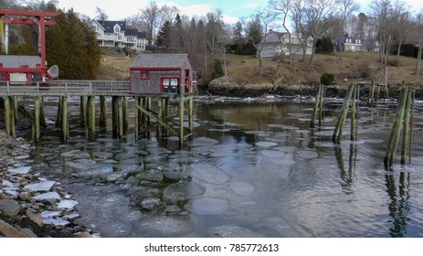 Spring reflections in Rockport, Maine