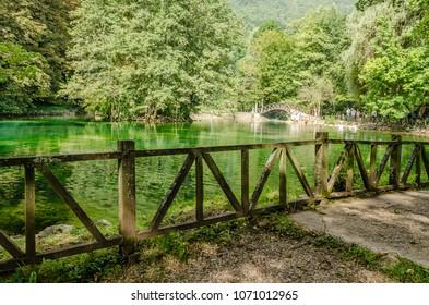 Spring of river Bosnia near the city of Sarajevo