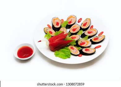 Spring Rolls Top View Isolated Stock Photos Images Photography