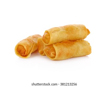 Spring rolls food isolated on white background