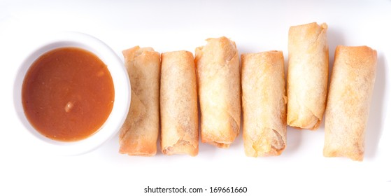 spring rolls with plum sauce