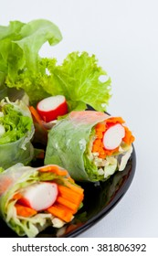 Spring rolls,Salad roll vegetables for Health