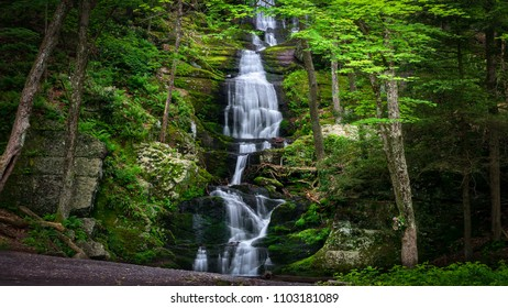 Spring runoff at Buttermilk Falls in Stokes State Forest, NJ
