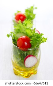 Spring salad with tomato, cucumber and radish- Healthy Eating