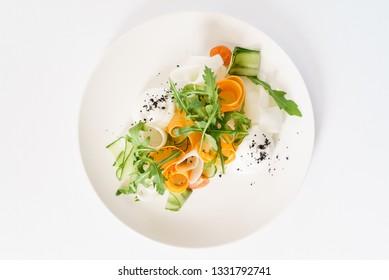 spring salad, top view