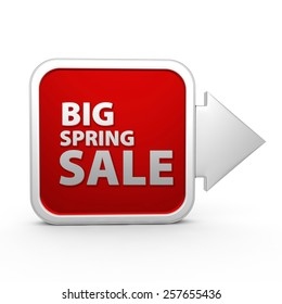 Spring sale square icon on white background