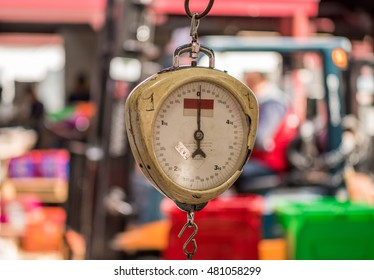 Spring Scale at Queen Victoria Markets in Melbourne, Australia
