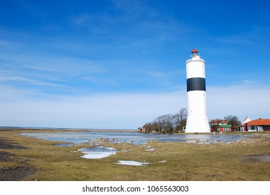 Spring season by the popular birdwatching site Ottenby at the swedish island Oland in the Baltic Sea