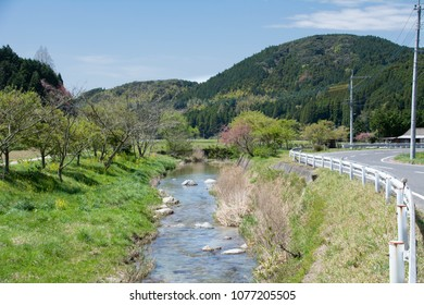 Spring stream in rural area of Saga prefecture, JAPAN