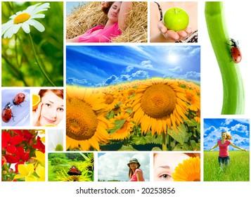 Spring, summer, spa, multi image