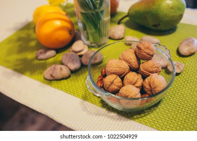 spring table with nuts