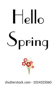 Spring text with flowers. Seasonal background